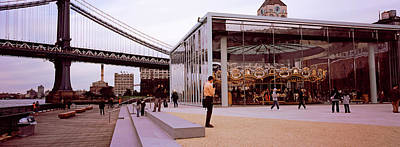 Brooklyn Bridge Park, Janes Carousel Poster by Panoramic Images