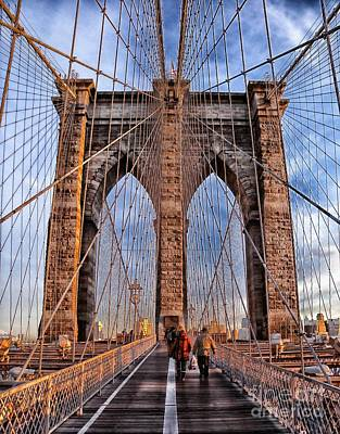 Poster featuring the photograph Brooklyn Bridge by Paul Fearn