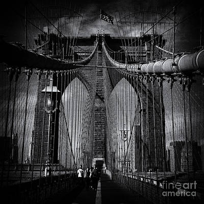 Brooklyn Bridge Up Close New York City Poster