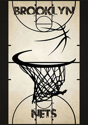Brooklyn Nets Court Poster by Joe Hamilton