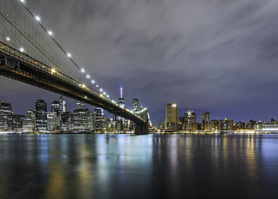 Poster featuring the photograph Brooklyn Nights by Anthony Fields