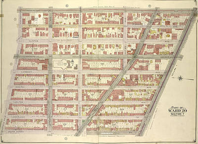 Brooklyn, Vol. 2, Double Page Plate No. 3 Part Of Ward 20 Poster by Litz Collection