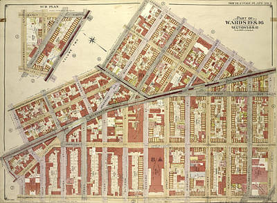 Brooklyn, Vol. 3, Double Page Plate No. 3 Part Of Wards 19 Poster by Litz Collection