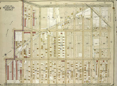 Brooklyn, Vol. 6, Double Page Plate No. 3 Part Of Ward 30 Poster by Litz Collection