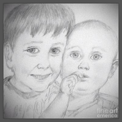 Brothers Pencil Sketch Poster