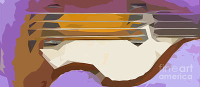 Brown Bass Purple Background 3 Poster by Pablo Franchi