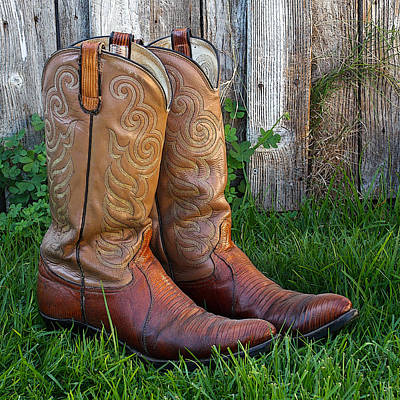 Brown Cowboy Boots Poster