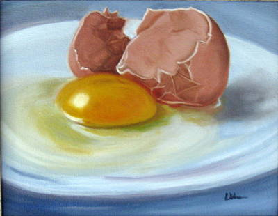 Poster featuring the painting Brown Egg Study by LaVonne Hand