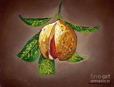 Poster featuring the painting Brown Glow Nutmeg by Laura Forde