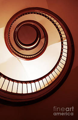 Brown Spiral Staircase Poster by Jaroslaw Blaminsky