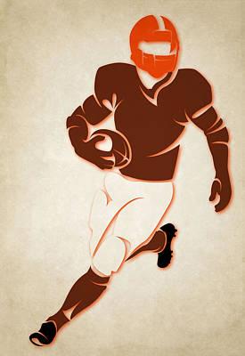 Browns Shadow Player Poster by Joe Hamilton