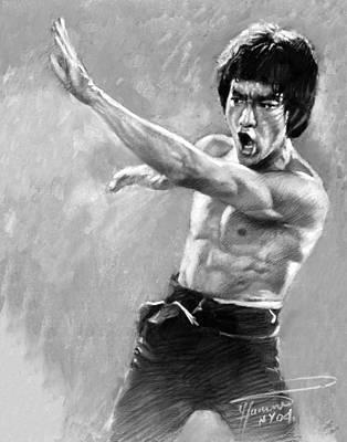 Bruce Lee Poster by Viola El