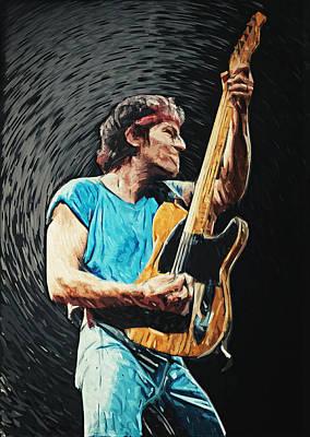 Bruce Springsteen Poster by Taylan Apukovska