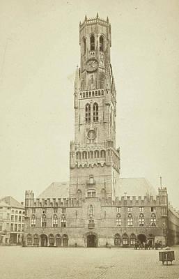 Bruges. Belfry, M. Léon Poster by Artokoloro