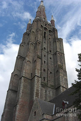 Poster featuring the photograph Bruges Church Of Our Lady by Deborah Smolinske