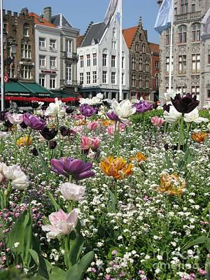 Poster featuring the photograph Brugge In Spring by Ausra Huntington nee Paulauskaite