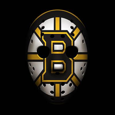 Bruins Goalie Mask Poster