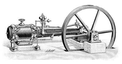 Brule Steam Engine Poster by Science Photo Library