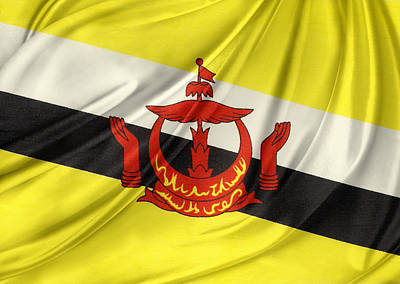 Brunei Flag Poster by Les Cunliffe