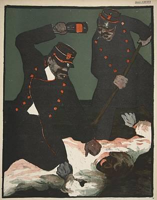 Brutality Of Policemen, Illustration Poster