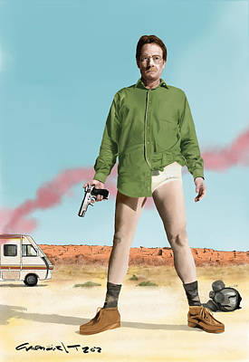 Bryan Cranston As Walter White  @ Tv Serie Breaking Bad Poster