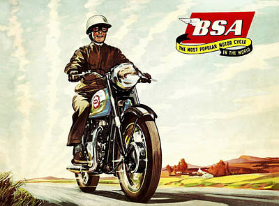 Bsa 1958 Poster by Mark Rogan
