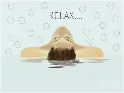 Bubble Bath Luxury Poster