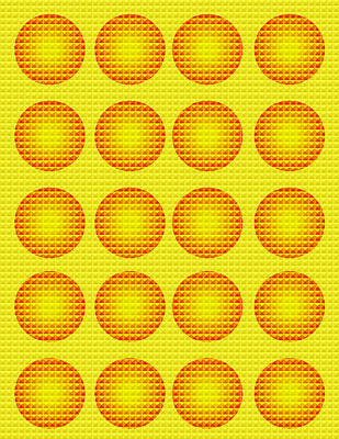 Bubbles Honeycomb Warhol  By Robert R Poster