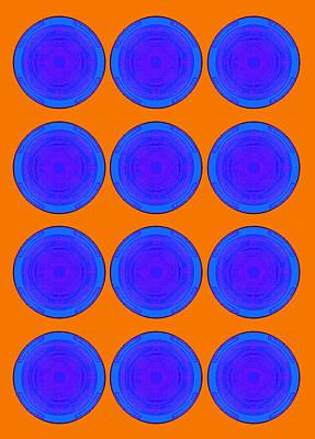 Bubbles Orange Blue Warhol  By Robert R Poster