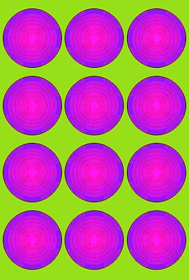 Bubbles Lime Purple Poster Poster