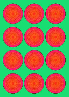 Bubbles Watermelon Warhol  By Robert R Poster