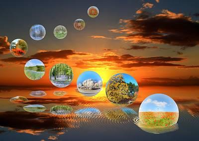 Bubbling Seasons. Poster