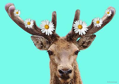 Buck Deer Art - Dont Shoot Poster by Sharon Cummings