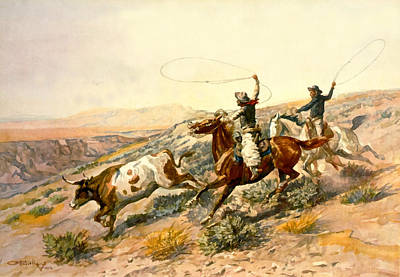 Buckaroos Poster by Charles Russell
