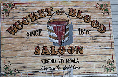 Bucket Of Blood Saloon 1876 Poster by David Millenheft