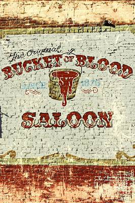 Bucket Of Blood Saloon Poster by Benanne Stiens