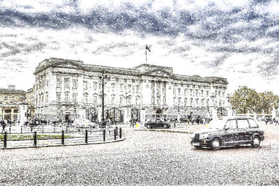 Buckingham Palace Snow Poster by David Pyatt