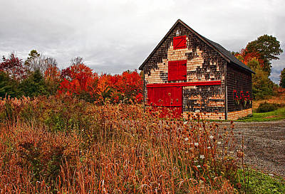 Buckport Barn Poster by Marcia Colelli