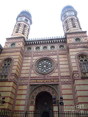 Poster featuring the photograph Budapest Synagogue by Deborah Smolinske