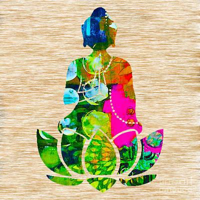 Buddah On A Lotus Poster