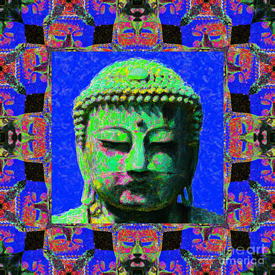 Buddha Abstract Window 20130130m68 Poster by Wingsdomain Art and Photography