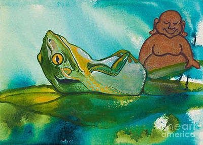 Buddha And The Divine Frog No. 1239 Poster