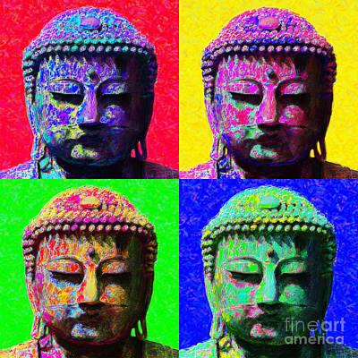 Buddha Four 20130130 Poster by Wingsdomain Art and Photography