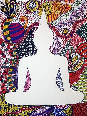 Buddha Meditating Poster