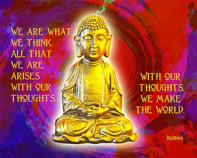 Buddha's Thoughts 2 Poster by Ginny Gaura