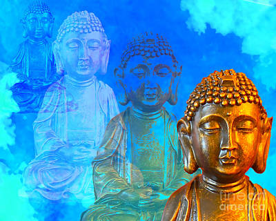 Buddha's Thoughts Poster by Ginny Gaura