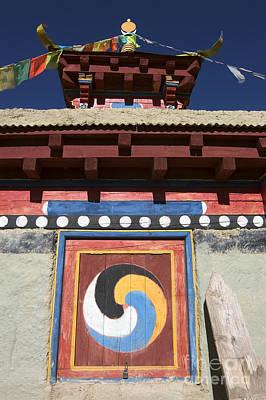 Buddhist Symbol On Chorten - Tibet Poster by Craig Lovell