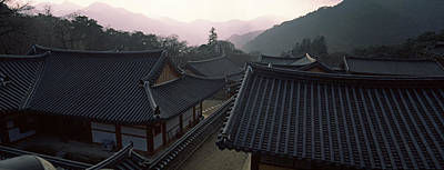 Buddhist Temple With Mountain Range Poster by Panoramic Images
