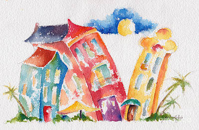 Buddy Buildings Poster by Pat Katz
