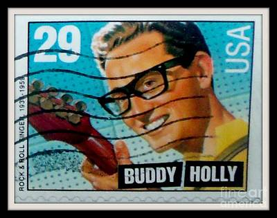Buddy Holly Postage Stamp Usa Poster by Gail Matthews